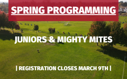Spring 2021 Juniors and Mighty Mites Programs