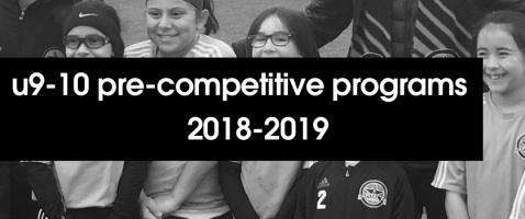 Details announced for 2018-19 U9-10 Pre-Competitive Program
