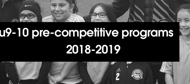 Details announced for 2018-19 U9-10 Pre-Competitive Program